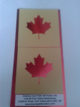 2 x Maple Leaf face painting stencils  rugby reusable many times  Internationals football hockey Canada Canadian